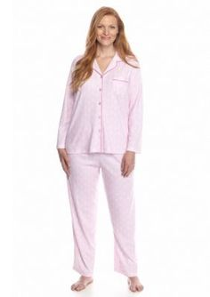 Karen Neuburger  Plus Size 2-Piece Button Front Pajama