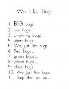 Bugs and Insects- Make this into a foldable book that the kids can illustrate