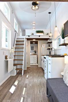 Tyni House, Tiny House Loft, Tiny House Plans, Tiny House On Wheels, Homes On Wheels, Tiny Home Floor Plans, Best Modern House Design, Modern Tiny House, Tiny House Design