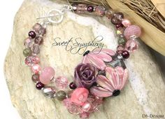 """Blüten-Armband """"SWEET SYMPHONY"""" rosa"""