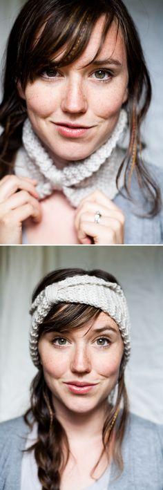 DIY: knitted cowl / headband