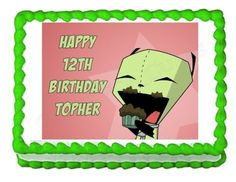 INVADER ZIM GIR party decoration edible image cake topper frosting sheet birthday ** Click on the image for additional details.(This is an Amazon affiliate link and I receive a commission for the sales)