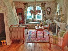 Mijn eigen Westville poppenhuis: de groene salon. My Westville Dollhouse: the green parlor.