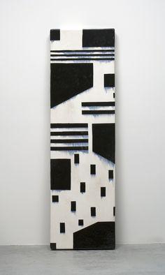 Jun Kaneko - Untitled, Wall Slab, 2005 Glazed ceramics | 73.75h x 21.5w x 5d in Wall Sculptures, Sculpture Art, Art Public, Ceramic Wall Art, Cement Crafts, Ceramic Studio, Black And White Abstract, Ceramic Design, Ceramic Artists