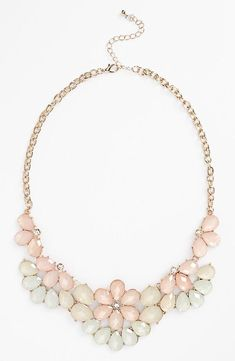 Pretty pastel statement necklace for prom.,shop at Costwe.com