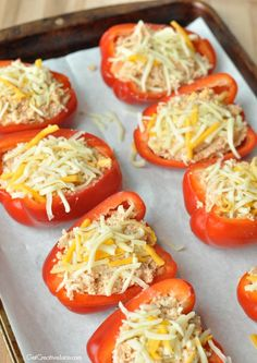 Roasted Mexican Stuffed Red Peppers