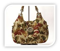This bag is made with the fabric I used for my dining room table...love it!