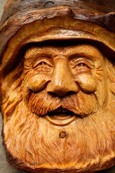 Wood Spirit Carving Fathers Day Art Gift by TreeWizWoodCarvings, $130.00