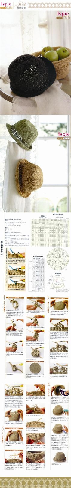 Crochet hats chart pattern
