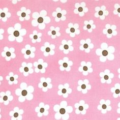 Birdie Small Flowers Pink Brown fabric by Me and My Sister for Moda 1 yard Last piece. $9.50, via Etsy.