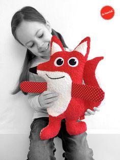 Kuscheltiere - Schlauer Fuchs von Knuschels - ein Designerstück von Knuschels bei DaWanda