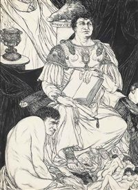 Politics from A Book of Satyrs by Austin Osman Spare