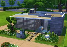 small, home, single, modern, creation. 80k