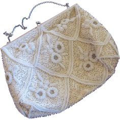 50% off during the Red Tag Sale, ends 11/29 at 8AM PST! Magid Hand Beaded in France Cream Special Occasion Purse