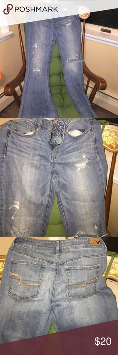 American Eagle  hi-rise artist stretch size 10 Good shape, cute jeans! American Eagle Outfitters Jeans Flare & Wide Leg