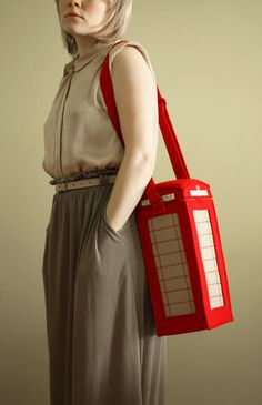 London Telephone Booth bag! - It is not bags, it is love... - krukrustudio - designer felt bags and accessories