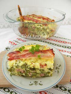 Aleda konyhája: Kolozsvári zöldbab - Fasole verde de Cluj Eclairs, Guacamole, Quiche, Main Dishes, Paleo, Food And Drink, Bacon, Meals, Vegetables