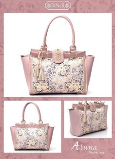 ALUNA Tote Bag...using Genuine Cow Leather