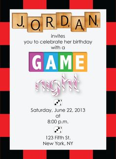 game night invitation