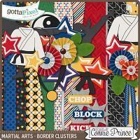 Martial Arts - Border Clusters $2.99