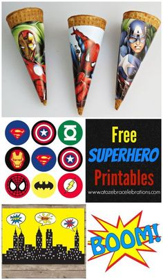 Free Superhero Party Printables...keeping this for when I need it