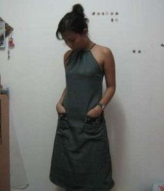 How to Sew a Drawstring Halter Dress (allfreesewing.com).  I need to get sewing!