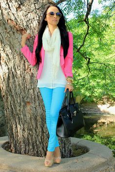 Pink and turquoise http://www.studentrate.com/fashion/fashion.aspx