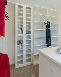 Glass Cabinets, Like The One Shown In This White Melamine Boutique, Allow  You To