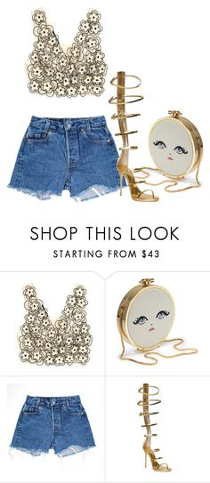 """""""Untitled #194"""" by chanelkillla ❤ liked on Polyvore featuring Sretsis, Levi's and Giuseppe Zanotti"""