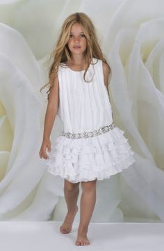 Vestidos ro y so Little Girl Fashion, Little Girl Dresses, Kids Fashion, Girls Dresses, Flower Girl Dresses, Baby Dress, Dress Up, Moda Kids, Look Girl