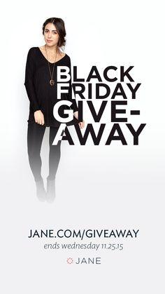 Jane.com Black Friday #Giveaway - 10 Winners Each Receive a $100 Jane Gift Card!