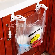 Storage Cabinets Plastic Garbage Bags Hook - USD $ 2.99