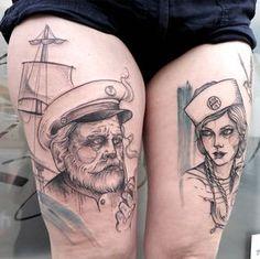 #tattoofriday - Os belos retratos de mulheres esboçados na pele por Anki Michler…