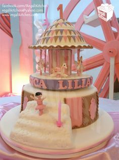 Rotating Carousel Cake for Lily