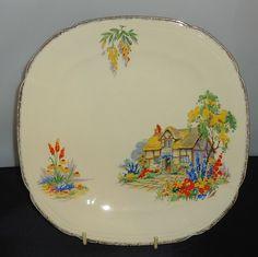 Alfred Meakin Royal Marigold Decorative Dinner Plate Birdbath Thatched Cottage   eBay
