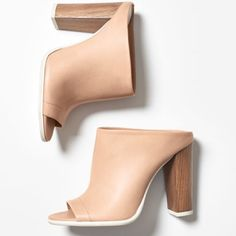 """VINCE mules-- never worn Vince """"Allison"""" peep-toe mules. Perfect combo of dressy & casual. You can wear these everywhere! They are too small for me  & have never been worn. Purchased from Shopbop. Price is firm. Please don't low-ball. No trades or pp. Vince Shoes Heels"""