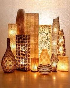 Modern Home Decor Ideas ~ The New Unique Lighting Design Collection Unique Lighting, Home Lighting, Lighting Design, Lighting Ideas, Unique Lamps, Lighting Solutions, African Interior, African Home Decor, Pretty Lights