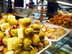A selection of tapas in Mercado San Miguel