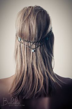 PINNACLE Head Chain & Hair Clip by BOHOBOcollective on Etsy, $45.00