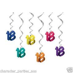 18th Eighteenth 18 Eighteen Birthday Party Swirl Decorations Banner Bunting