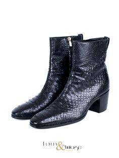 Yves Saint Laurent Python Johnny Boots 6.5mm by Tom Ford