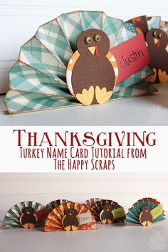 Turkey Name Card Tutorial - The Happy Scraps