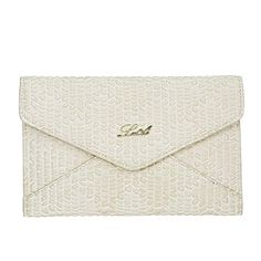 La Cle LA023 Shrinked PU leather Flat Envelope Clutch Bag Ivory *** Want to know more, click on the image.