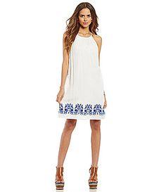 078b87c5c740 Gianni Bini Michelle Embroidered Trapeze Dress