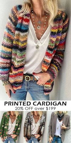 Cardigans For Women, Coats For Women, Jackets For Women, Clothes For Women, Moda Crochet, Knit Crochet, Ladies Cardigan Knitting Patterns, Us Online Clothing Stores, Mode Hippie