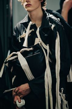 Backstage at Craig Green's Fall 2016 Men's Wear Fashion Show - -Wmag