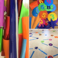 lautapelit lattialle - games on the floor - handmade - active learning