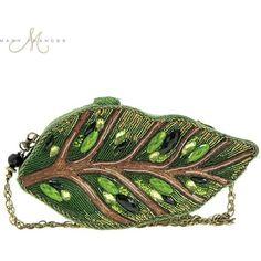 Mary Frances Leaf Me Alone Handbag Handbag ($295) ❤ liked on Polyvore featuring bags, handbags, hand-bag, white bags, leaf purse, man bag and purse bag
