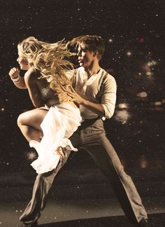 "Shawn Johnson & Derek Hough. They danced a Rumba to Shawn's guilty pleasure song ""The heart will go on"" by Celine Dion."