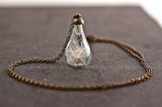 Handblown glass teardrop filled with REAL por VillaSorgenfrei, $23.90